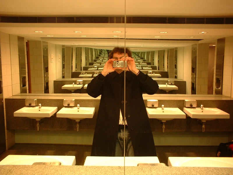 Image result for mirror facing a mirror