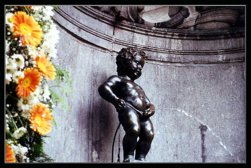 """Manneken Pis"" (Little Man Piss) in Brussels, Belgium"