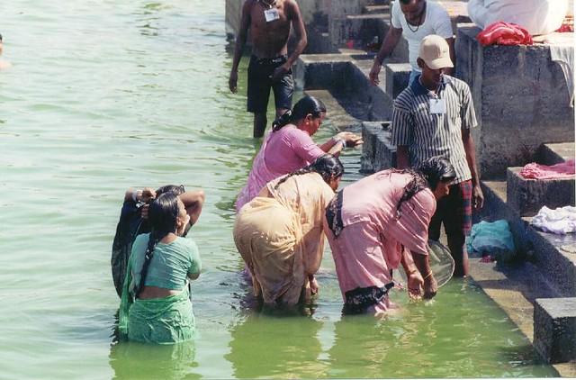 Bath   Indian women bathing at the Kumbh Mela in Ujjain ...