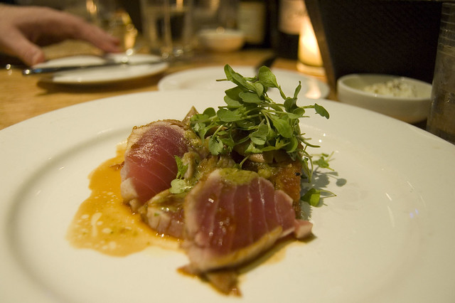 1st Course: Seared Hawaiian Ahi Tuna | Flickr - Photo Sharing!