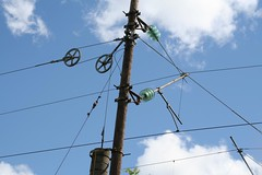 outdoor structure(0.0), mast(0.0), tower(0.0), electrical supply(1.0), overhead power line(1.0), line(1.0), electricity(1.0), public utility(1.0),