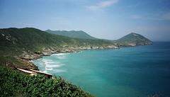 horizon, cape, sea, ocean, headland, bay, island, body of water, promontory, inlet, shore, terrain, cove, coast,