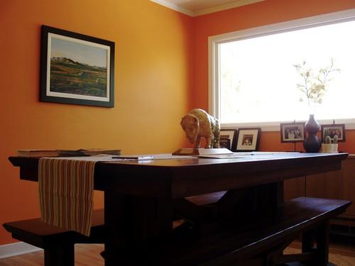 Orange Painted Rooms Photos