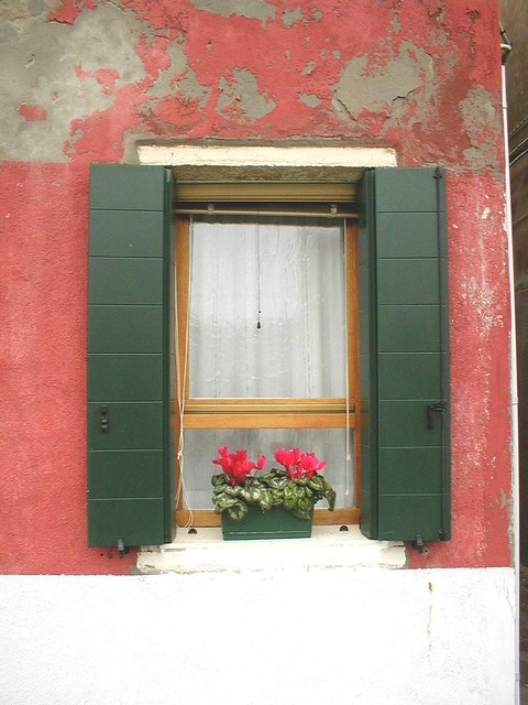 Window, Zagorota Island, Venice, Italy