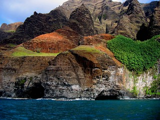 Rugged coast at Na Pali