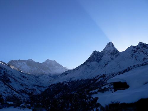 Mt. Everest, Lhotse and Ama Dablam