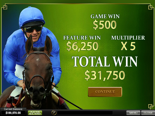 free Frankie Dettori's Magic Seven Jackpot bonus game win