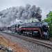The N & W J class #611 travelling from Lynchburg, VA to Manassas, VA passing through Orange, VA by i nikon