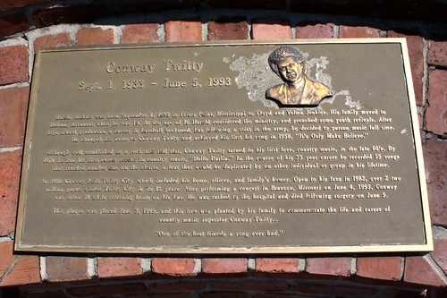 Conway Twitty Plaque - Twitty City