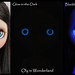 OOAK Hand-Painted Eye Chips for Blythe Doll - [Glow-in-the-Dark & Blacklight Reactive!!!] Sparkling BLUE GLOW Sunburst by Oly in Wonderland