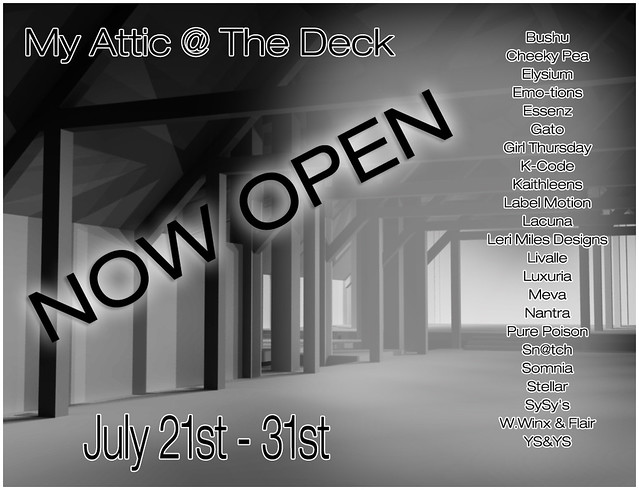 My Attic - July Edition NOW OPEN