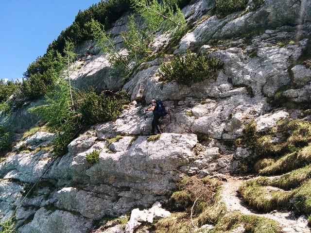 Überquerung des Sorapiss-See über die Felswand