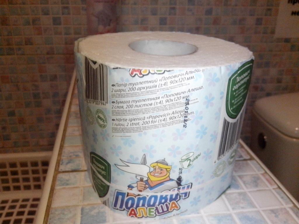 Алеша Попович туалетная бумага