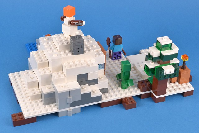 Lego Minecraft 21120 The Snow Hideout Review Brickset