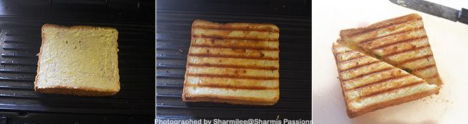 Grilled Egg Bhurji Sandwich Recipe - Step5