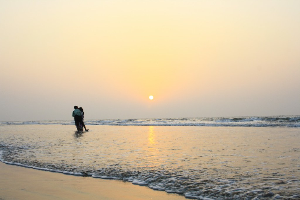 Newly Married Couple Making Love at Digha Sea Beach - West Bengal, India