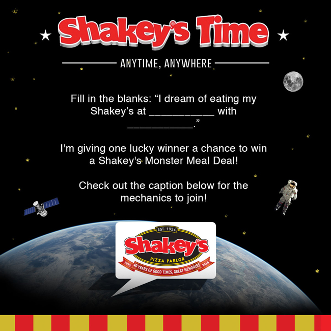 Shakey's Time Contest Poster