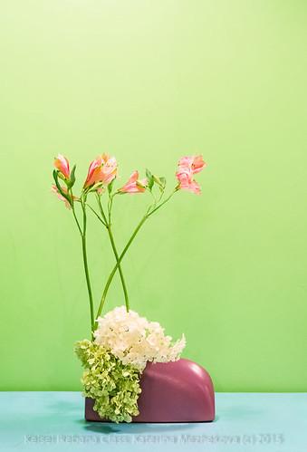 Tenderness of a Butterfly. Mass & Line Ikebana