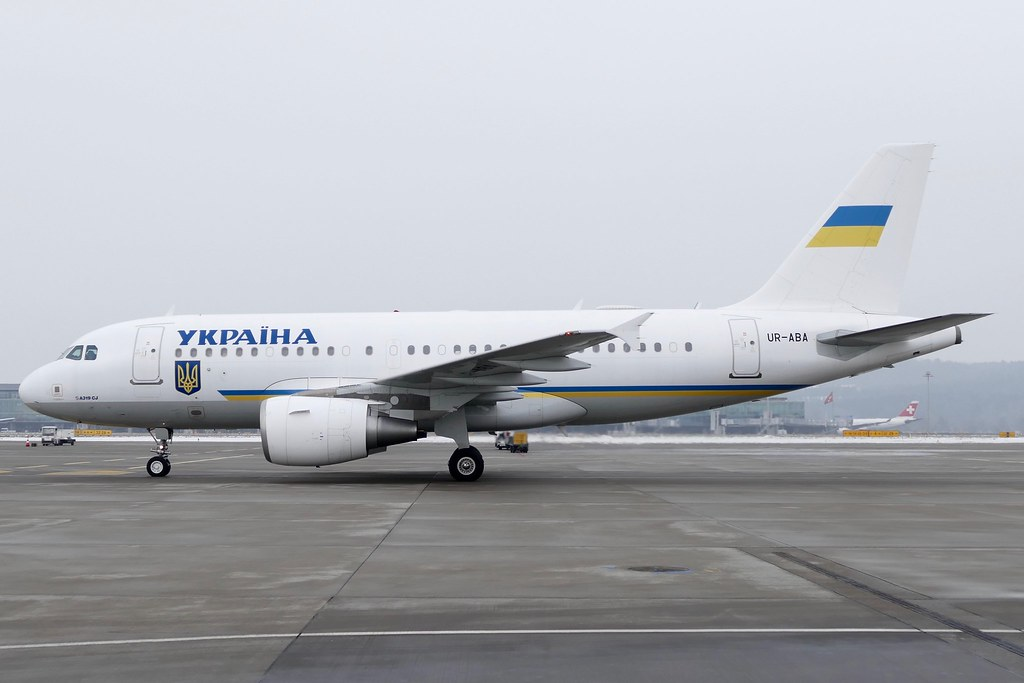 Airbus A319 115 Ukrainan Government UR-ABA ZRH Zurich Airport Switzerland 20170120