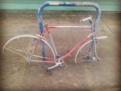 And now I present to you: Your sad stripped bicycle picture of the day. #sadbicycle