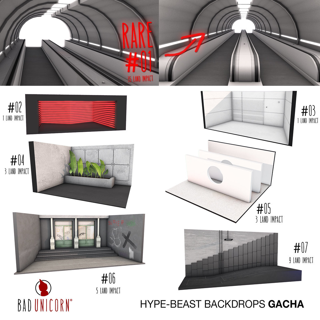 OUT NOW! Hype Beast Backdrops @ Bad Unicorn Mainstore - SecondLifeHub.com