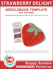 STRAWBERRY DELIGHT - needlebook template PDF
