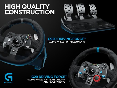 Logitech G29 & G920 Force Feedback Wheels