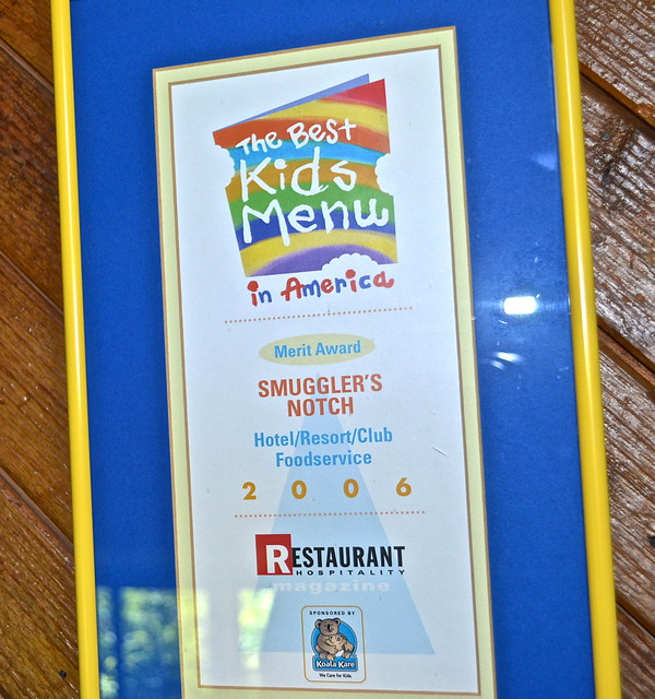 kids menu - Smugglers Notch Resort, vermont