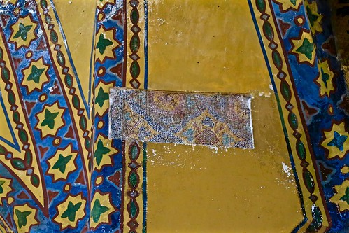 For some reason, murals were painted over beautiful mosaic in the Hagia Sophia!