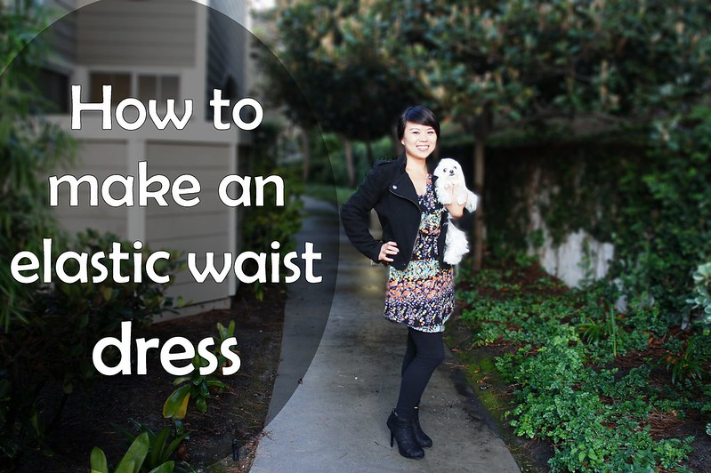 Elastic Waist Curved Hem
