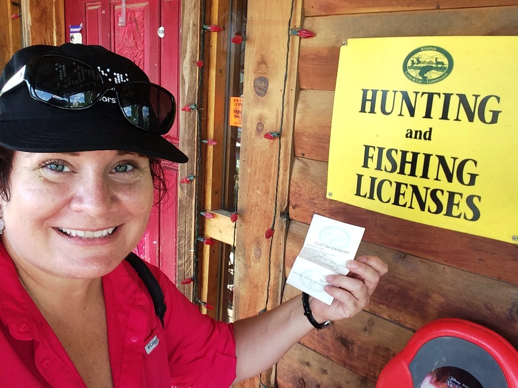 Picked Up My Three-Day Non-Arkansas Resident Fishing License for $16 June, 2015 #VisitArkansas