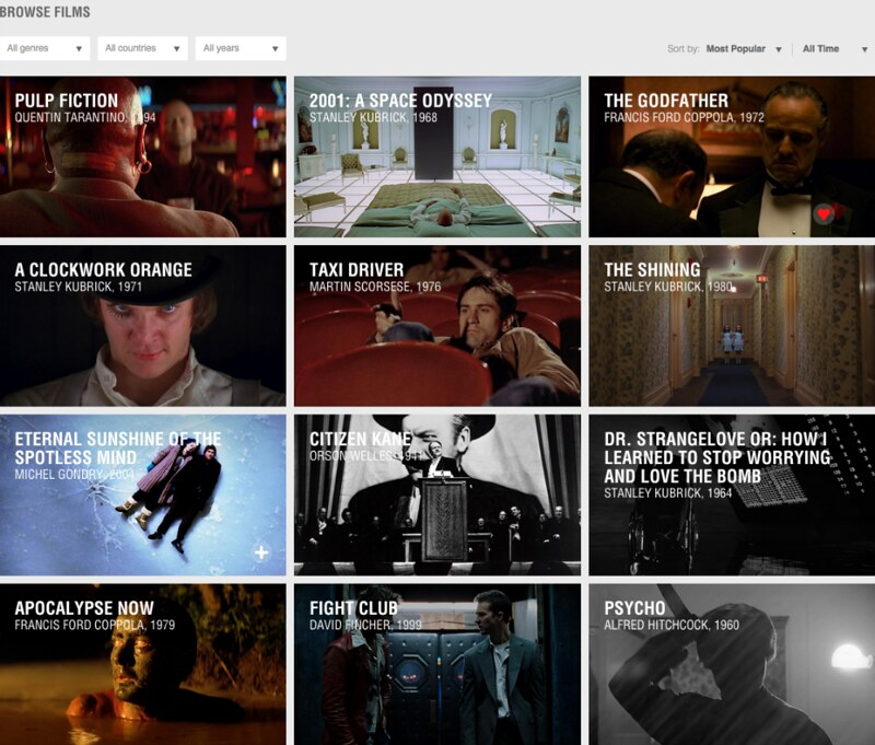 MUBI: For those who are looking for more than Netflix, Hulu and Prime