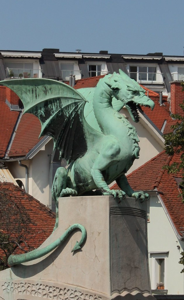 Dragon Ljubljana Slovenia complete statue