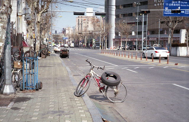 A Bicycle with A Tire, Seoul, Korea