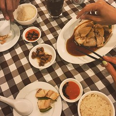 About last night...Asians need their Asian food. #Singapore #postturkey #latergram #chickenrice #summer #food #nom