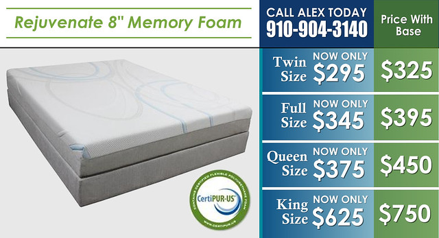 Rejuvenate Memory Foam 8in