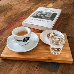 Serving espresso