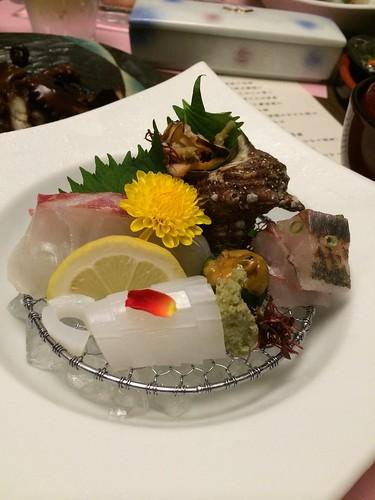 ホテル竜宮_夕食(地魚五種盛り)