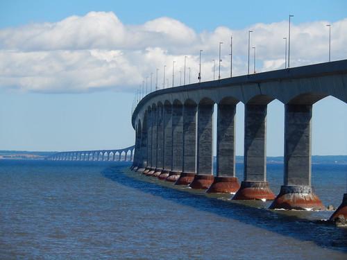 Confederation Bridge vanaf New Brunswick