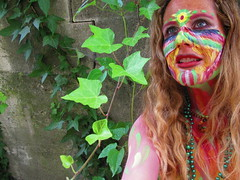 Goddess KRING face paint body pride ride seattle 2015