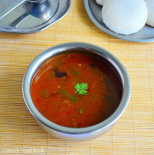 Tomato Brinjal Sambar Recipe-Side Dish For Idli Dosa Chitras