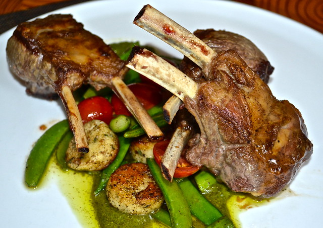 Lamb Chops Solcstice Restaurant - Stowe Mountain Lodge, Vermont