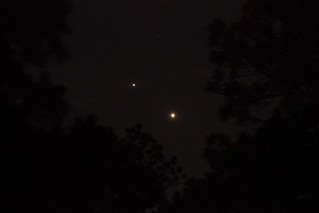 Venus and Jupiter in the Western Sky