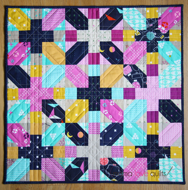 Cotton and Steel Japanese X and + mini quilt