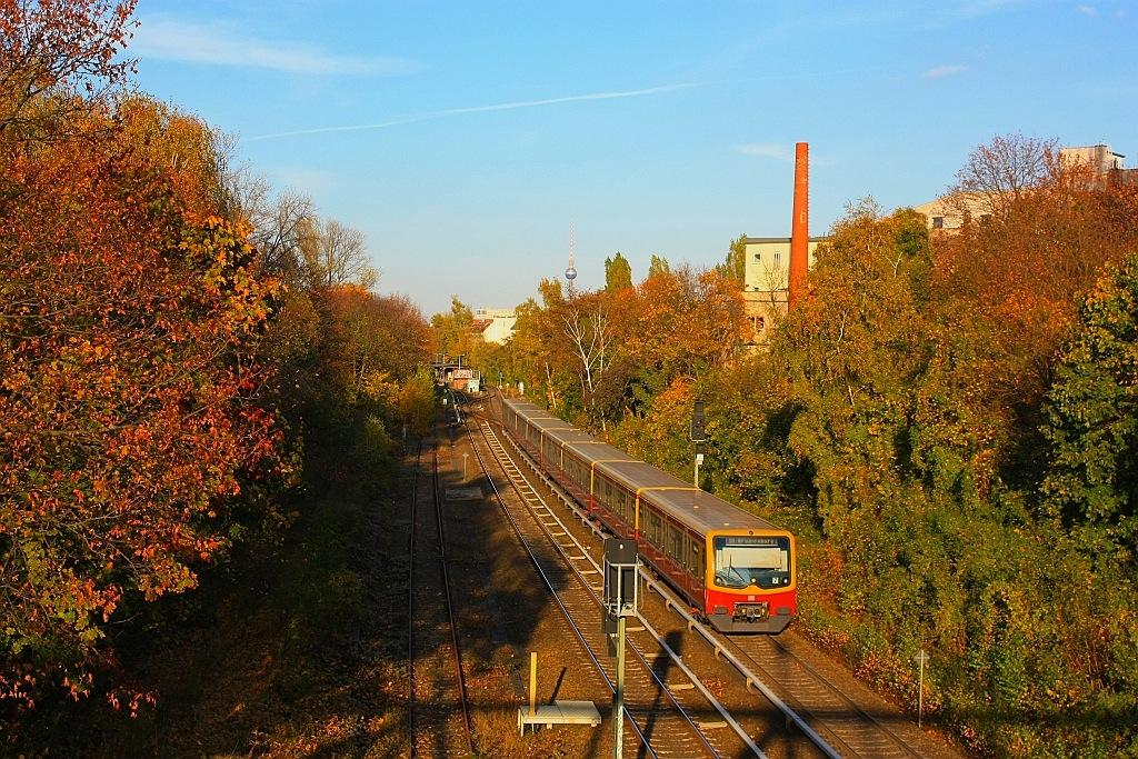 Herbstfarben von der Langenscheidtbrücke (S1-Bhf Yorckstrasse), Berlin Schoeneberg, Germany, fotoeins.com
