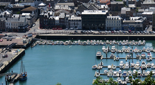 A view of Fecamp harbour from Cap Fagnet in France