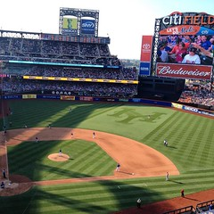 July 12, 2015 - 00:55 - Fantastic ballpark. What a gem in Queens! Lots of craft beer and delicious food. Only problem with is the planes. They fly over constantly and are distracting. #mlb #ballpark #mets #nym #nymets #ny #chasers #baseball #beisbol