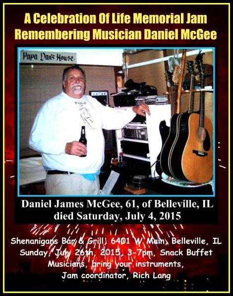 Dan McGee Memorial Jam 7-26-15