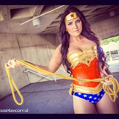 Happy hump day!  Hope your Wednesday is going great. In case it's not, here's some Wonder Woman Wednesday to pep Ya up. This is a shot of lovely Cosplayer @vivawonderwoman as the Amazonian Princess readying the lasso of truth at @animeexpo a few weeks bac