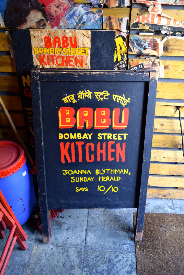 Babu Bombay Street Kitchen Sign, Glasgow